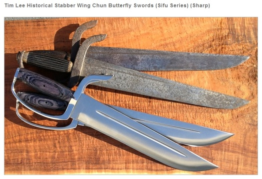Tim Lee's modern reinterpretation of a set of late 19th century butterfly swords.  Source: Everything Wing Chun.