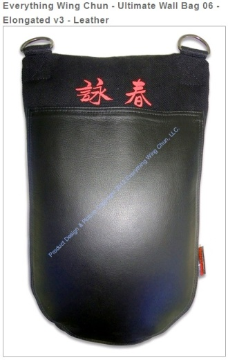 Photo of Wallbag.  Source: Everything Wing Chun.