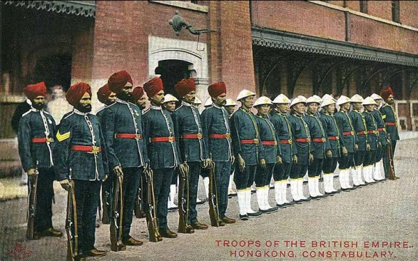 Indian Police.Hong Kong.Pre-1911.color