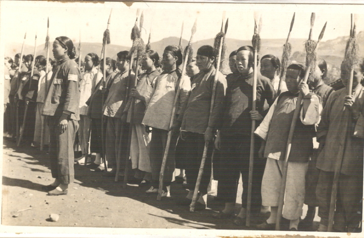 Communist Party Women's Militia in Yanan, 1938.  Photographer unknown.