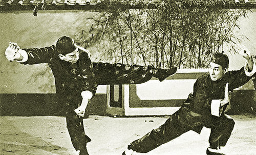 Wong Fei Hung battles a rival in an early film.