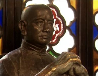 A statue located in the Wong Fei Hung Temple in Foshan.