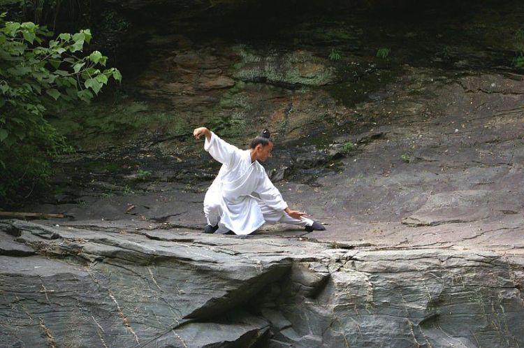 Taiji Quan being practiced at Wudang.  Source: Wikimedia.