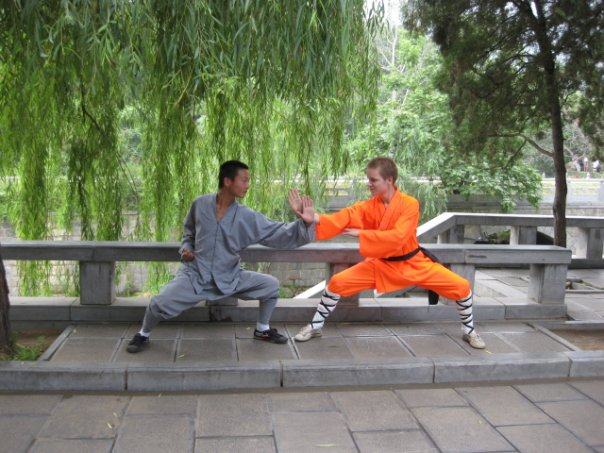 Two students of Shaolin Kung Fu Training.  Source: Wikimedia.