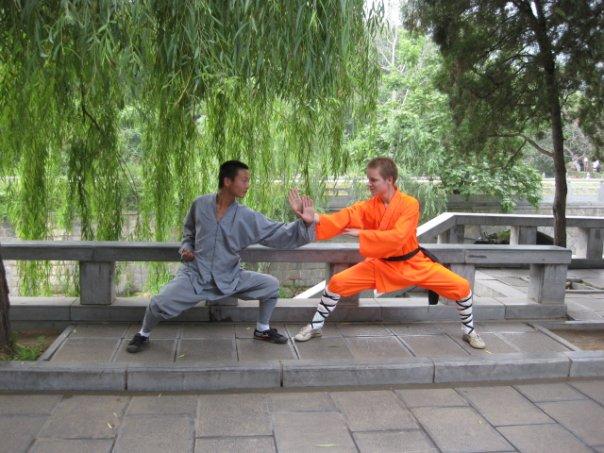 Two students of Shaolin Kung Fu Training.  Source: Wikimedia.