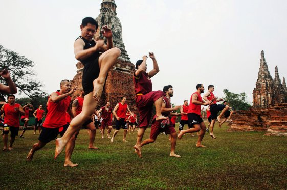 Muay Boran training at the recent international gathering and tournament in Thailand.  Source: NY Times.