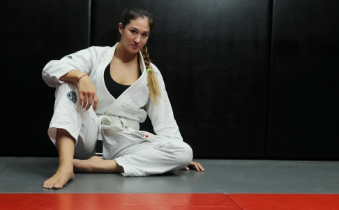 Amelia Lui BJJ student and the subject of a recent profile in the SCMP.  Source: South China Morning Post.