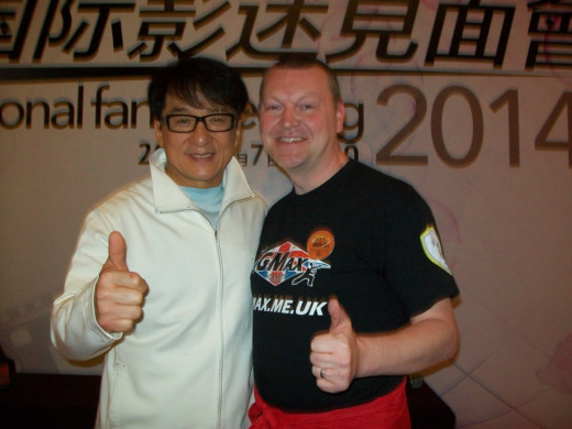 Glen Stanway and Jackie Chan.  Source: Royston Weekly News.