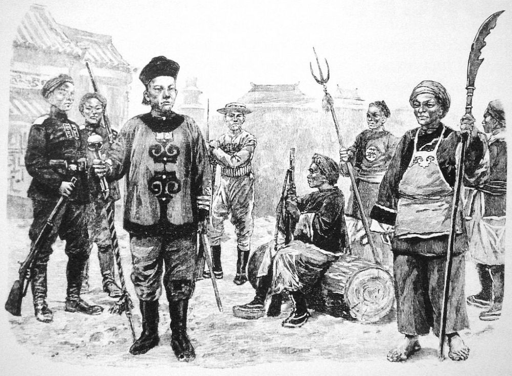 Leipzig Illustrierte Zeitung 1900, reproduction in Peking 1900, The Boxer Rebellion by Peter Harrington, p.24.  Source: Wikimedia.