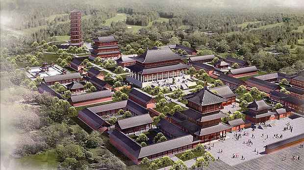 Architectual drawings of the proposed Shaolin Temple complex in NSW, Australia.