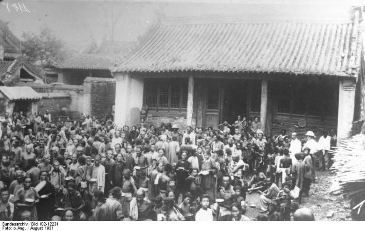 The aftermath of a flood of the Yellow River in 1931.