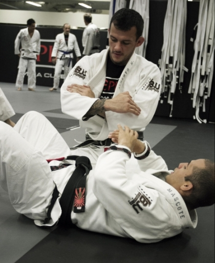 Alberto Mina, training in BJJ.  Source: SCMP.