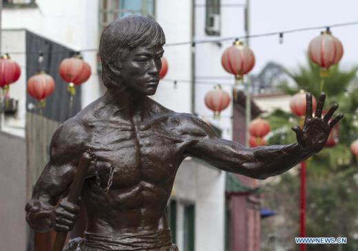 A statue of Bruce Lee erected in the Los Angeles Chinatown. Source: english.peopledaily.com.cn