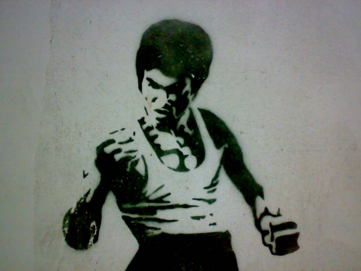 Bruce Lee Graffiti.  Source: Wikimedia.