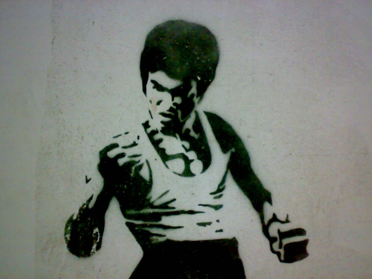 Bruce Lee Graffiti.  Source: Wikimedia.