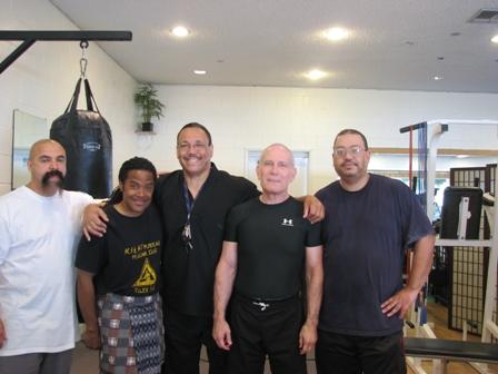 Left to right Gurus Tony Valdez, James Leach, Maha Guru Clifford Stewart, Green, Guru Thomas Lomax,  Los Angeles, CA.  Source: Personal Collection of Prof. Thomas Green.