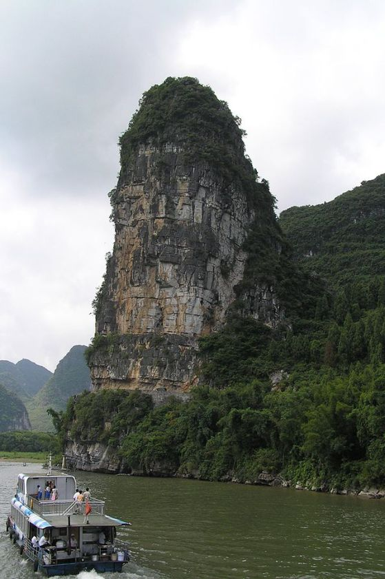 Another image of the Pearl River near Guilin.  Source: Wikimedia.