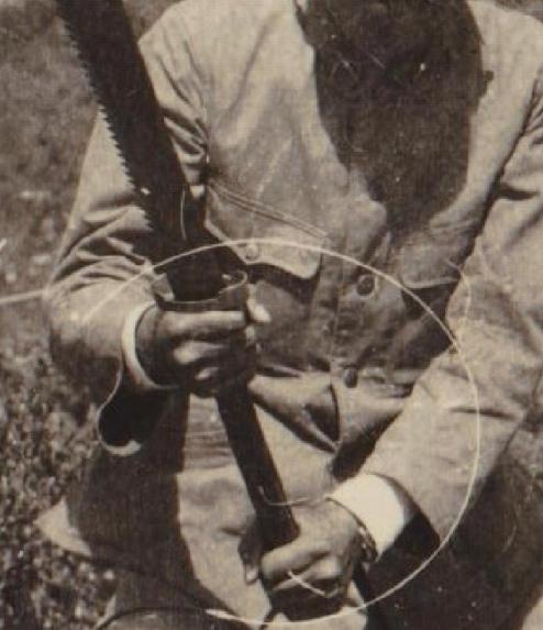 A detail of the sawback dadao.  Source: Author's personal collection.