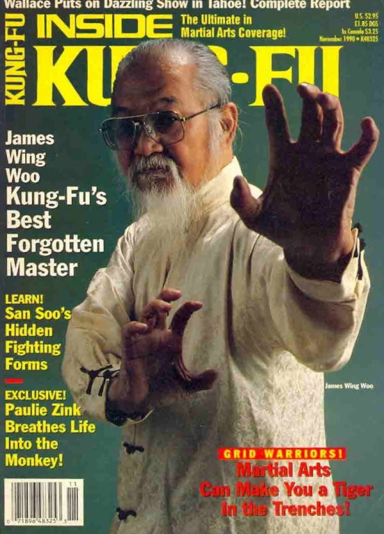James Wing Woo on the cover of Kung Fu Taichi.  Source: Kung Fu Tai Chi.