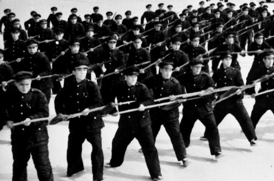 A militia in the 1940s armed with spears.  Many of these groups were composed of former Red Spear units that had been reorganized by the KMT.  Source: http://www.historyextra.com/gallery/chinas-wars