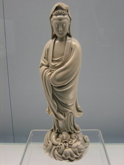 A fine Ming dynasty statue of Guanyin.  This deity was popular among both sailors and pirate during the Qing period and later came to be worshiped by some Red Spear groups.  Source: Wikimedia.
