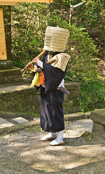 Another Komuso Buddhist Monk.  Photo by Tarourashima.   Source: Wikimedia.