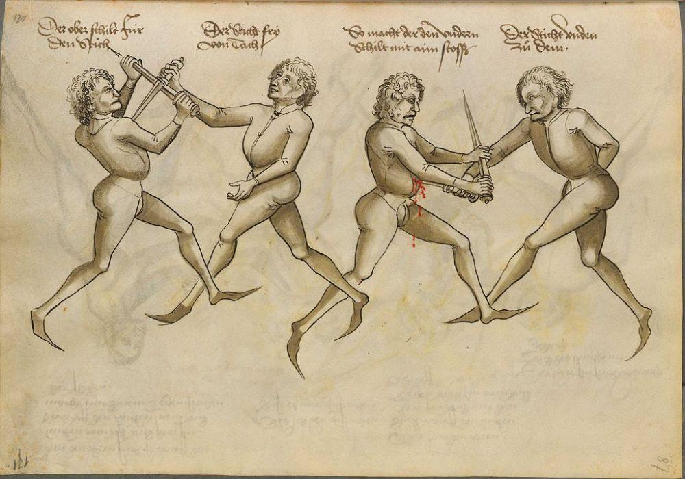 "An illustration from Hans Talhoffers ""Fechtbuch"" von 1467/  Source: Wikimedia (public domain)."
