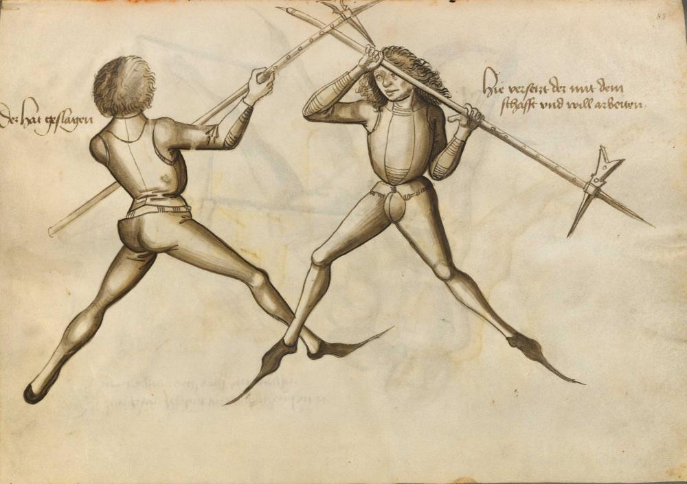 "An illustration from Hans Talhoffers ""Fechtbuch"" von 1467.  Source: Wikimedia (public domain)."