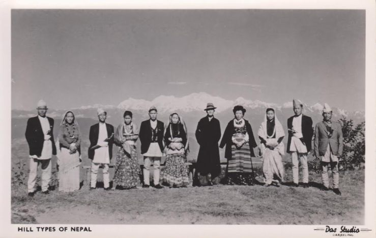 Hill Types of Nepal.  Probably produced in the 1960s.  Source: Author's Personal Collection.