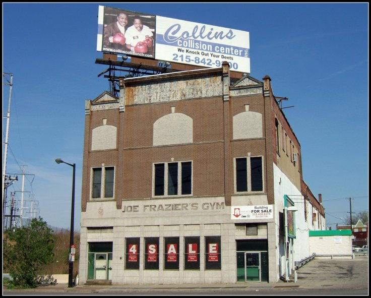 Joe Fraziers Gym in Philadelphia after it was put on the market in 2008 due to Fraziers growing financial difficulties.  Source: Wikimedia.