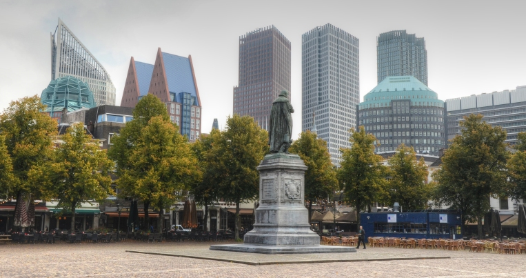 The Hague skyline viewed from Hetplein Square.  Source: Wikimedia