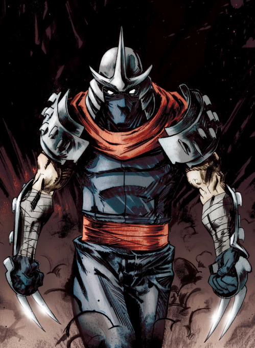 An image of The Shredder from a 2012 IDW cover.