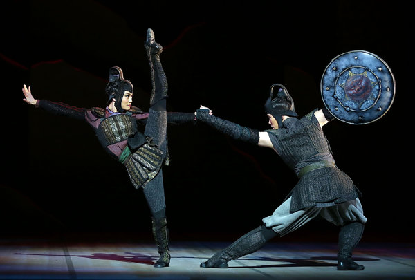 A performance of Mulan.   Source: New York Times.