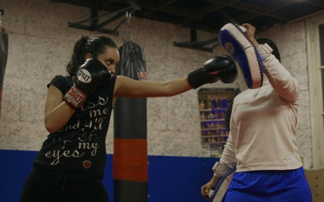 Kickboxing trainig in the Hague. Source: Sports Provocation. Photo by Jasmijn Rana