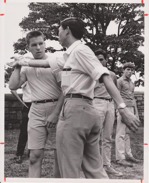 William Chen, demonstrating Taijiquan in NYC during the summer of 1965. Source: Authors Personal Collection.