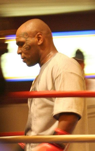 Mike Tyson in Las Vegas, 2006.  Photo by Octal.  Source: Wikimedia (CC).