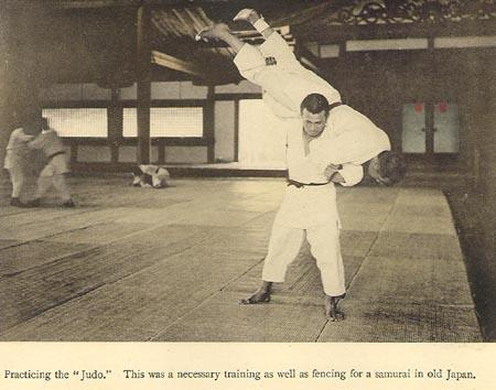 "Judo, from the collotype book, ""Martial Accomplishments of Japan.""  Photo by Tamamura.  Source: http://www.baxleystamps.com/litho/ta/ta_mil.shtml"