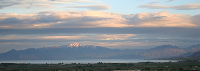 Utah Lake as seen from its north shore.  Source: Wikimedia.