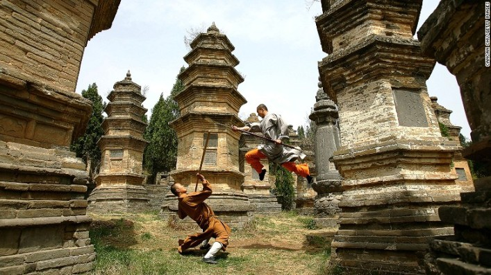 The Pagoda Temple at the Shaolin Temple in Henan Province.  Source: cnn.com