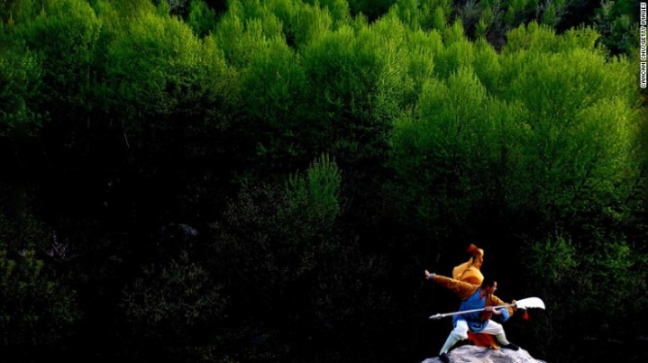 A martial artist on Songshan Mountain.  Source: CNN
