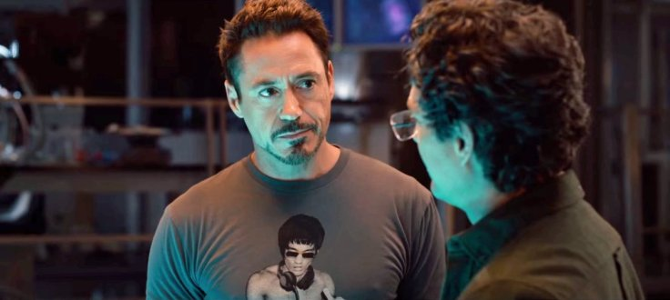 Robert Downey Jr. sporting a Bruce Lee T-shirt.  Source: Business Insider.