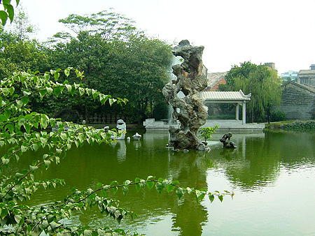 Liang Yuan garden has a particularly fine collection of viewing stones such as this magnificent example.  Source: www.chinatouronline.com