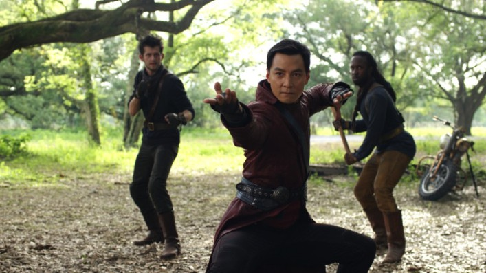 A still from the trailer for AMC's Into the Badlands presented at the 2015 Comicon.