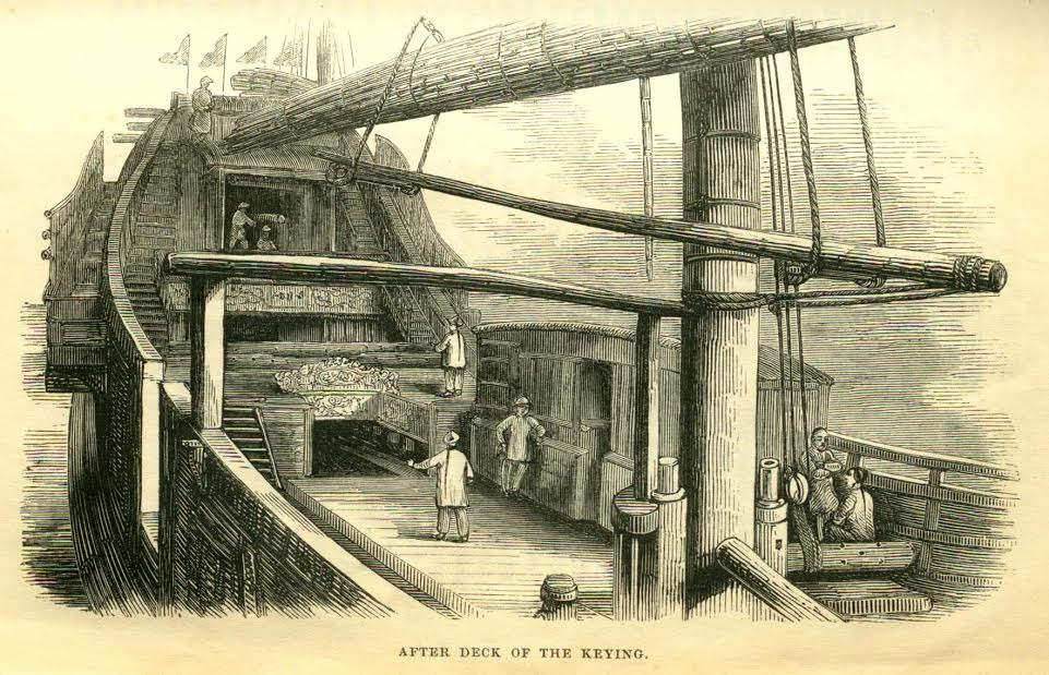 A Windlass on the deck of the famous Chinese junk Keying during its tour of the UK.