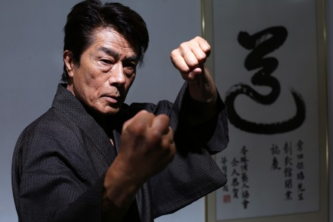 Yasuaki Kurata, in Hong Kong for a Kendo seminar.  Source: SCMP.