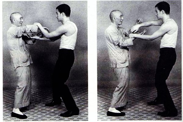Ip Man and his best known student, Bruce Lee.