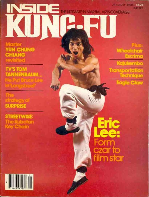 Eric Lee on the cover of Inside Kung Fu in 1980.