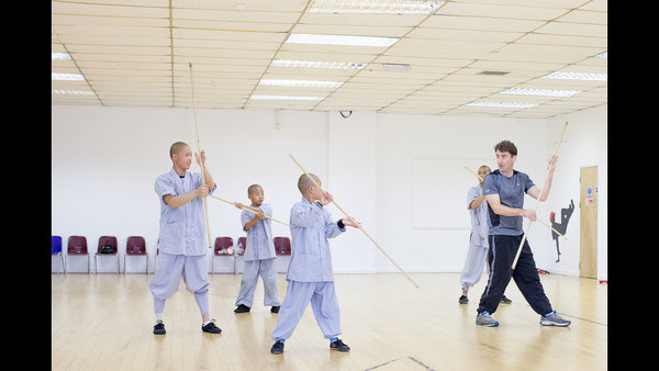 Shaolin Masterclass, stick training. Photo by Jack Latham. Source: FT.com