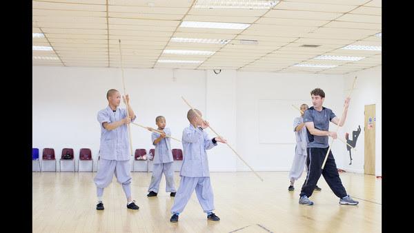 Shaolin Masterclass, stick training. Photo by Jack Latham. Source: FT.com