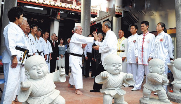 Japanese and Chinese martial arts students meeting in Fujian. Source: SCMP